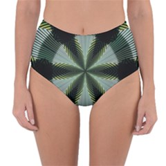 Lines Abstract Background Reversible High Waist Bikini Bottoms by BangZart