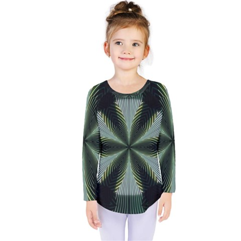 Lines Abstract Background Kids  Long Sleeve Tee by BangZart