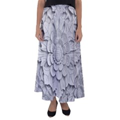 Pattern Motif Decor Flared Maxi Skirt