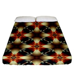 Kaleidoscope Image Background Fitted Sheet (queen Size) by BangZart