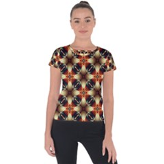 Kaleidoscope Image Background Short Sleeve Sports Top  by BangZart