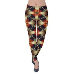 Kaleidoscope Image Background Velvet Leggings