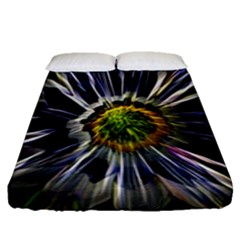 Flower Structure Photo Montage Fitted Sheet (queen Size) by BangZart