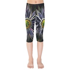 Flower Structure Photo Montage Kids  Capri Leggings
