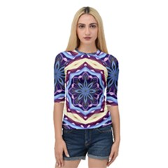 Mandala Art Design Pattern Quarter Sleeve Tee