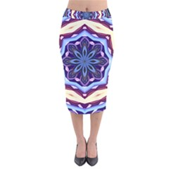 Mandala Art Design Pattern Velvet Midi Pencil Skirt