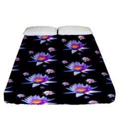 Flowers Pattern Background Lilac Fitted Sheet (queen Size) by BangZart