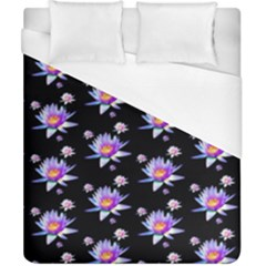 Flowers Pattern Background Lilac Duvet Cover (california King Size) by BangZart