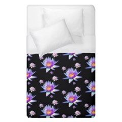 Flowers Pattern Background Lilac Duvet Cover (single Size) by BangZart