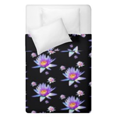 Flowers Pattern Background Lilac Duvet Cover Double Side (single Size) by BangZart