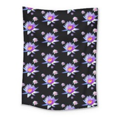 Flowers Pattern Background Lilac Medium Tapestry