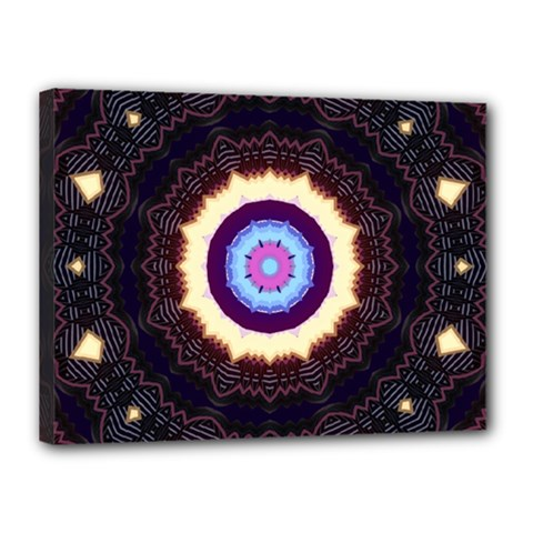Mandala Art Design Pattern Canvas 16  X 12  by BangZart