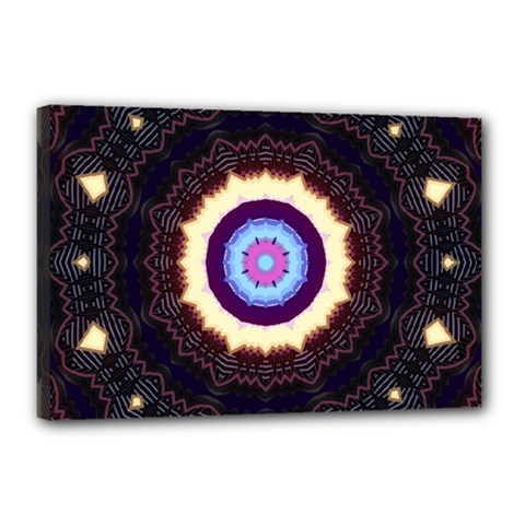 Mandala Art Design Pattern Canvas 18  X 12  by BangZart