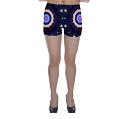 Mandala Art Design Pattern Skinny Shorts