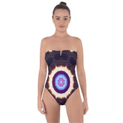 Mandala Art Design Pattern Tie Back One Piece Swimsuit