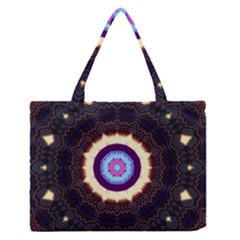 Mandala Art Design Pattern Medium Zipper Tote Bag by BangZart