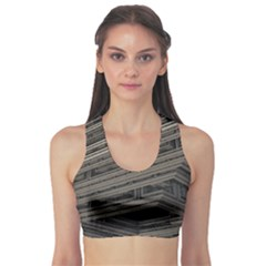 Fractal 3d Construction Industry Sports Bra by BangZart