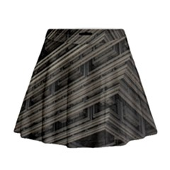 Fractal 3d Construction Industry Mini Flare Skirt by BangZart