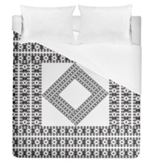 Pattern Background Texture Black Duvet Cover (queen Size) by BangZart