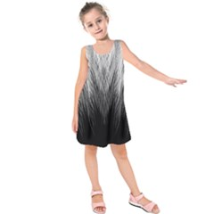 Feather Graphic Design Background Kids  Sleeveless Dress by BangZart