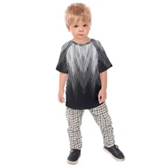Feather Graphic Design Background Kids Raglan Tee
