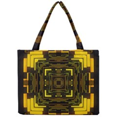 Abstract Glow Kaleidoscopic Light Mini Tote Bag by BangZart