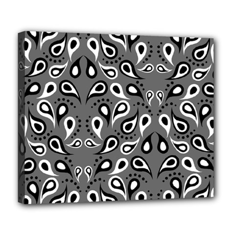Paisley Pattern Paisley Pattern Deluxe Canvas 24  X 20   by BangZart
