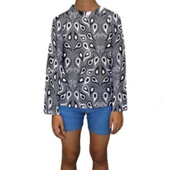 Paisley Pattern Paisley Pattern Kids  Long Sleeve Swimwear by BangZart
