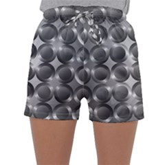 Metal Circle Background Ring Sleepwear Shorts