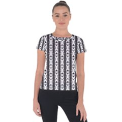 Pattern Background Texture Black Short Sleeve Sports Top  by BangZart