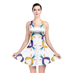 Pattern Circular Birds Reversible Skater Dress by BangZart