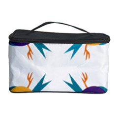 Pattern Circular Birds Cosmetic Storage Case by BangZart