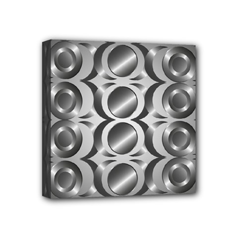 Metal Circle Background Ring Mini Canvas 4  X 4  by BangZart