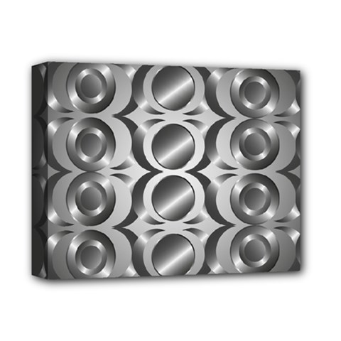 Metal Circle Background Ring Deluxe Canvas 14  X 11  by BangZart