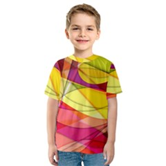 Abstract #367 Kids  Sport Mesh Tee by RockettGraphics