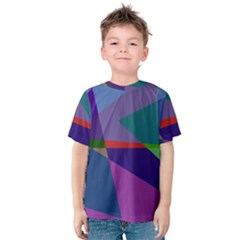 Abstract #415 Tipping Point Kids  Cotton Tee by RockettGraphics