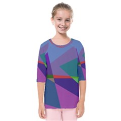 Abstract #415 Tipping Point Kids  Quarter Sleeve Raglan Tee by RockettGraphics