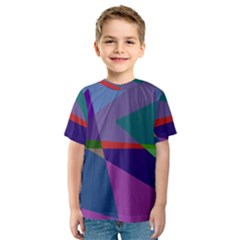 Abstract #415 Tipping Point Kids  Sport Mesh Tee by RockettGraphics