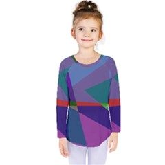 Abstract #415 Tipping Point Kids  Long Sleeve Tee by RockettGraphics