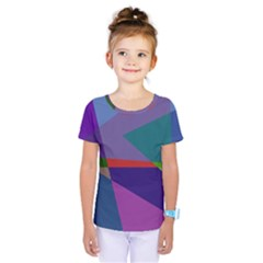 Abstract #415 Tipping Point Kids  One Piece Tee by RockettGraphics