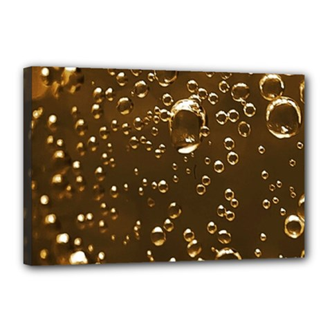 Festive Bubbles Sparkling Wine Champagne Golden Water Drops Canvas 18  X 12  by yoursparklingshop