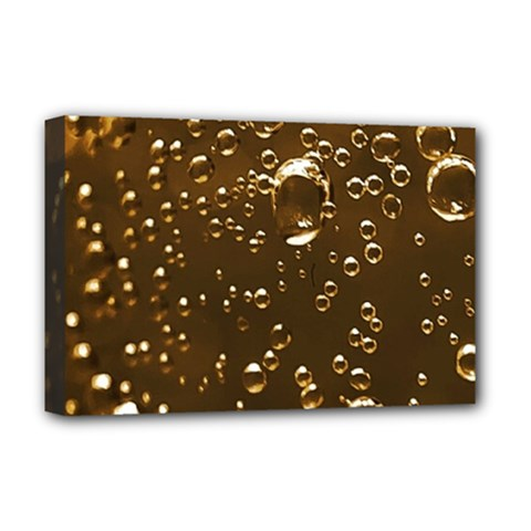 Festive Bubbles Sparkling Wine Champagne Golden Water Drops Deluxe Canvas 18  X 12   by yoursparklingshop