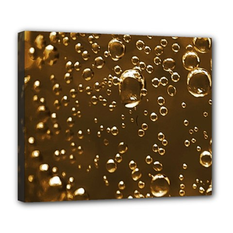 Festive Bubbles Sparkling Wine Champagne Golden Water Drops Deluxe Canvas 24  X 20   by yoursparklingshop