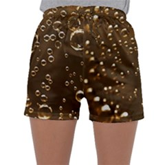 Festive Bubbles Sparkling Wine Champagne Golden Water Drops Sleepwear Shorts