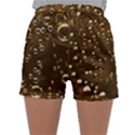 Festive Bubbles Sparkling Wine Champagne Golden Water Drops Sleepwear Shorts View1