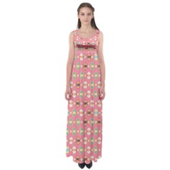 Cute Eggs Pattern Empire Waist Maxi Dress by linceazul