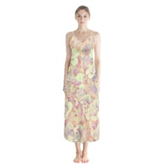 Lovely Floral 36b Button Up Chiffon Maxi Dress by MoreColorsinLife