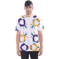 Pattern Circular Birds Men s Sports Mesh Tee by BangZart