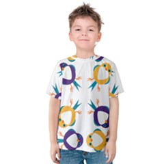 Pattern Circular Birds Kids  Cotton Tee by BangZart