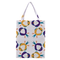 Pattern Circular Birds Classic Tote Bag by BangZart